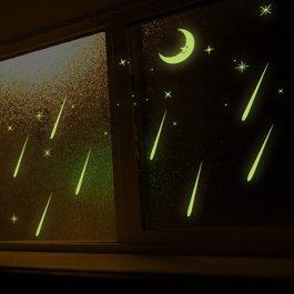 Samolepky na zeď 3D hvězdy