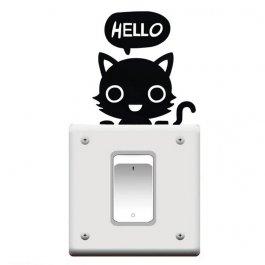 Samolepky k vypínači - kočka
