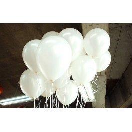 Bílé balonky 100 ks