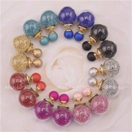 Kuličkové náušnice s perličkami