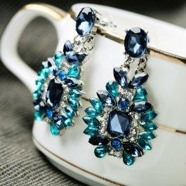 Modré kamínkové náušnice
