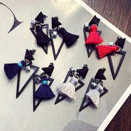 Stylové trojúhelníkové náušnice