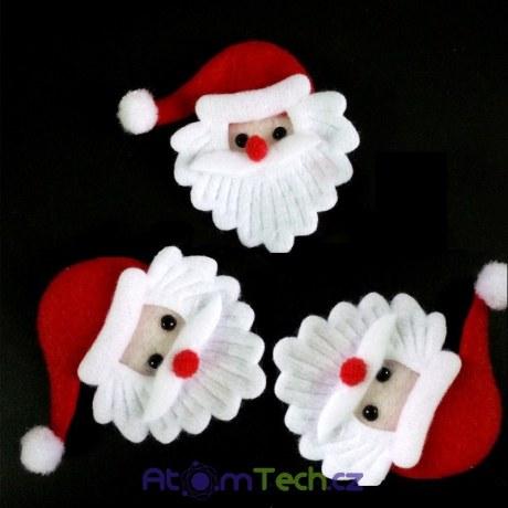 Dekorace - Santa Claus 10 ks