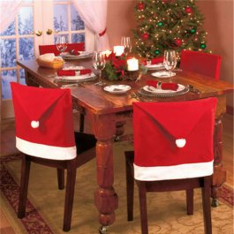 Vánoční dekorace na židle