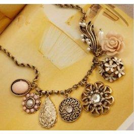 Vintage zlatý náhrdelník