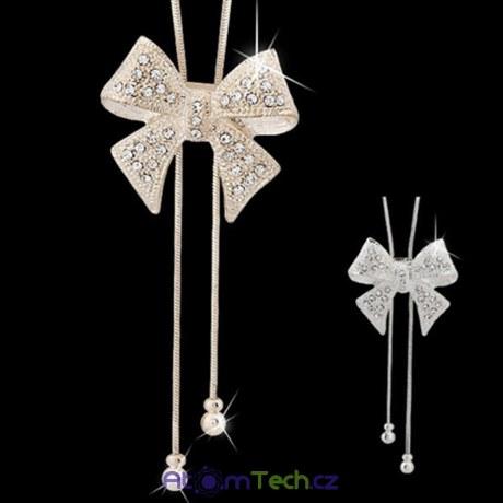 Dlouhý náhrdelník s mašlí