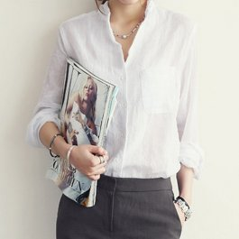 Košile s kapsami v pánském stylu