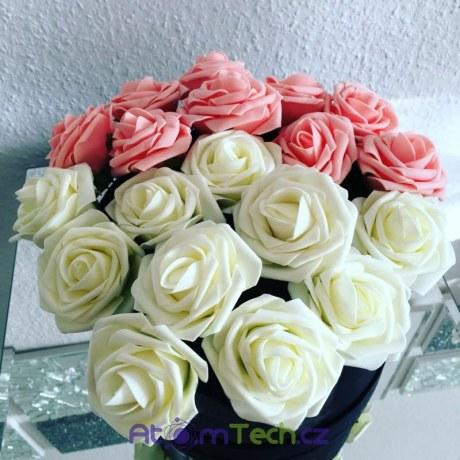 Umělé růže květy 10 ks