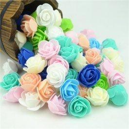 Mini květy růží 50 ks