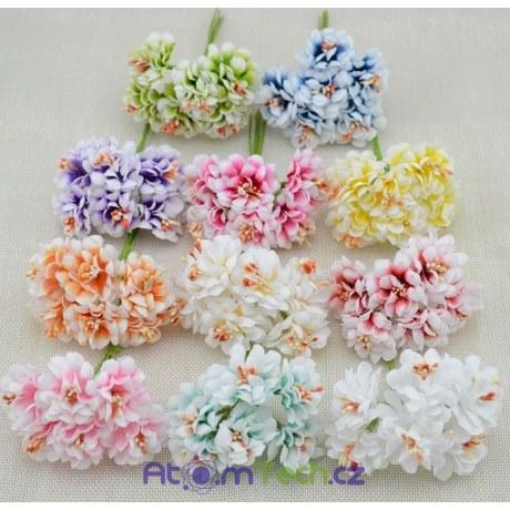 Umělé květiny 6 ks