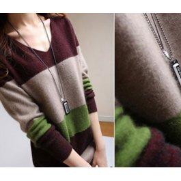 Pruhovaný kašmírový svetr
