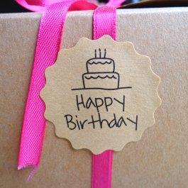 Samolepky Happy Birthday 120 ks