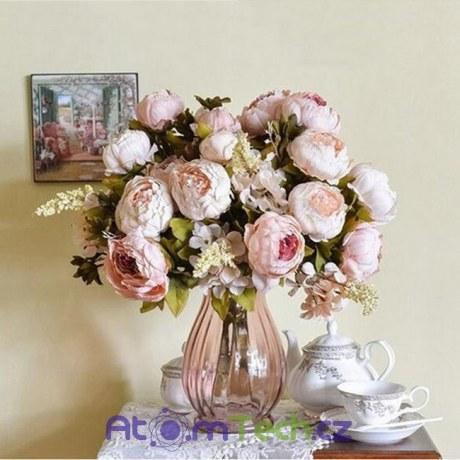 Umělá kytice pivoněk