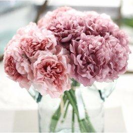 Umělá kytice hortenzie
