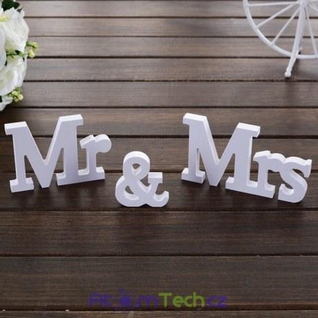 Nápis Mr & Mrs