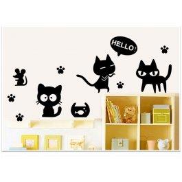 Kočičí samolepky