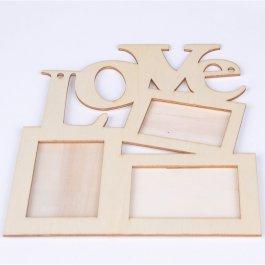 Dřevený rámeček na fotky LOVE