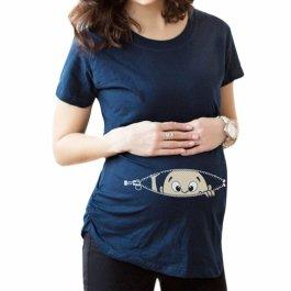 Těhotenské tričko s koukajícím dítětem