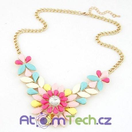Hravý květinový náhrdelník