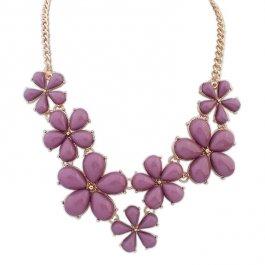 Matný květinový náhrdelník