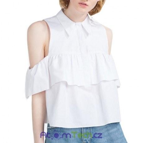Košile bez rukávů s volány