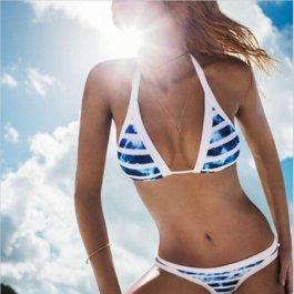 Plavky s modro-bílými pruhy