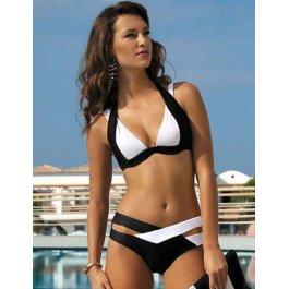 Černo-bílé bandážované plavky