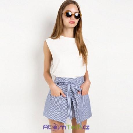 Pruhované stylové šortky