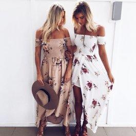 Dlouhé květované šaty v boho stylu