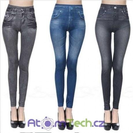 Zeštíhlující legínové džíny