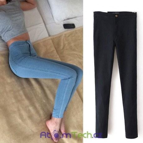 Strečové vysoké skinny džíny