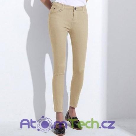 Barevné stretchové kalhoty