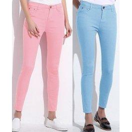 Barevné stretchové kalhoty (9 barev)