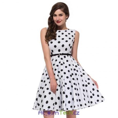 Retro puntíkované šaty (7 barev)