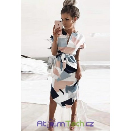 Stylové geometrické šaty