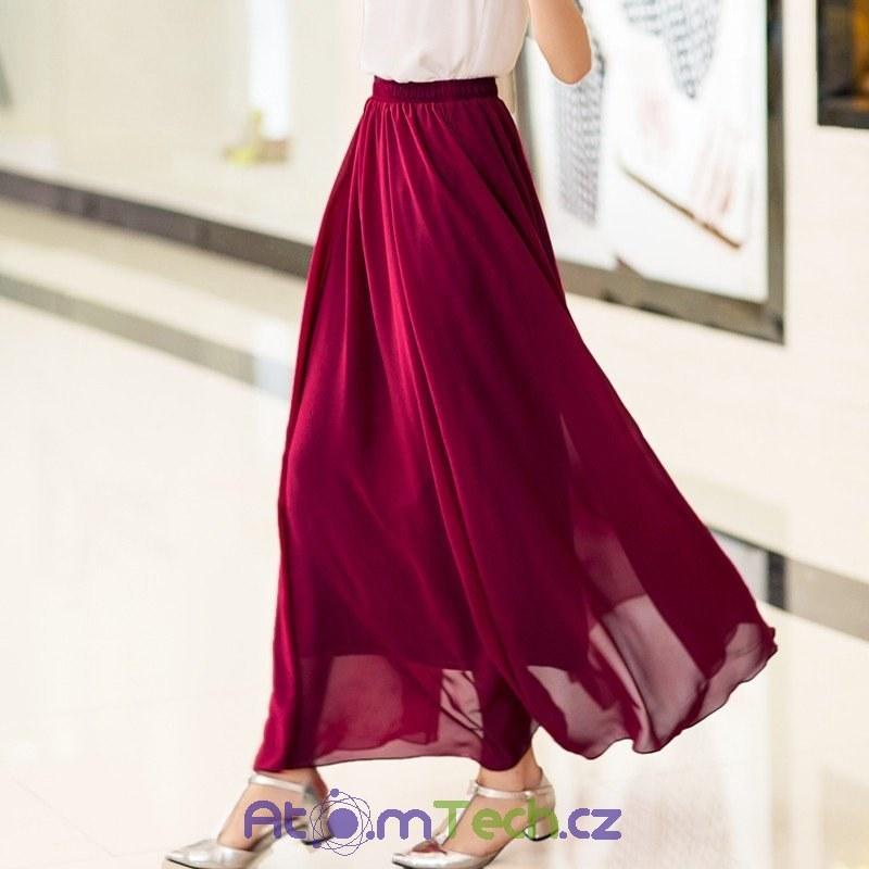 ee1257af2b3 Maxi šifonová sukně (12 barev)