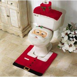 Vánoční dekorace na záchod