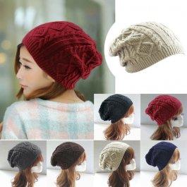 Čepice s pleteným vzorem