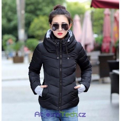 Zimní bunda s vysokým límcem