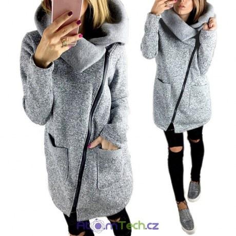 Podzimní šedivý kabátek