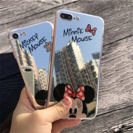 Zrcadlový kryt na iPhone Mickey a Minnie
