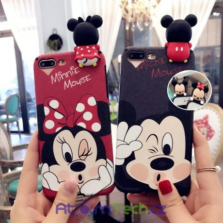 Kryt na iPhone Mickey s 3D postavičkou
