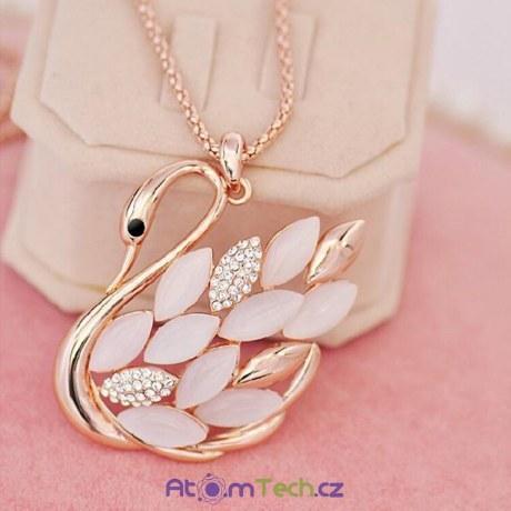 Náhrdelník Luxusní zlatá labuť