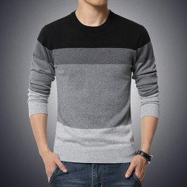 Pánský svetr s pruhy