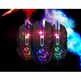 Podsvícená optická hrací myš DRAGON