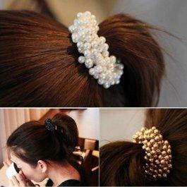 Perličková gumička na vlasy