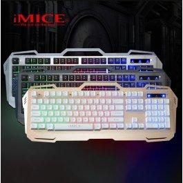Herní podsvícená  kabelová klávesnice iMice