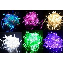 LED barevné řetězy 10 m