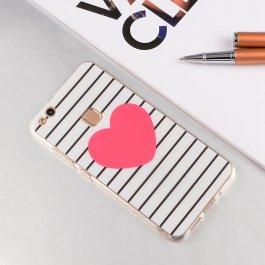 Kryt pro Huawei Pruhy a Srdce