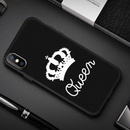 Černý kryt pro iPhone Queen